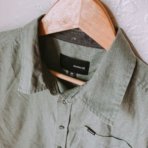 Hurley button down shirt, size Medium